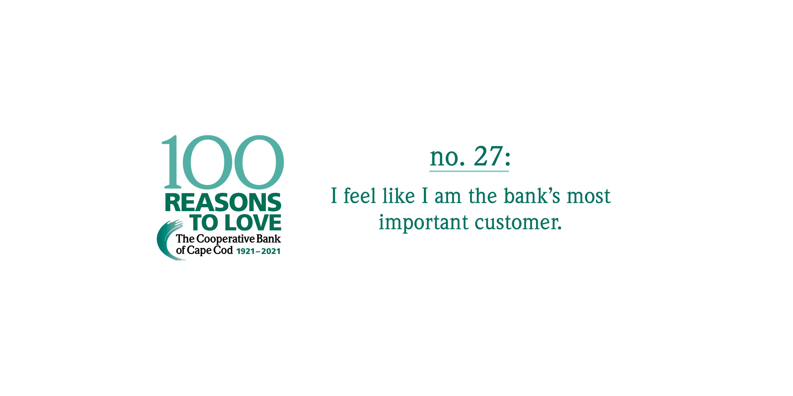 100 Reasons to Love The Coop - Reason #27: I feel like I am the bank's most important customer.