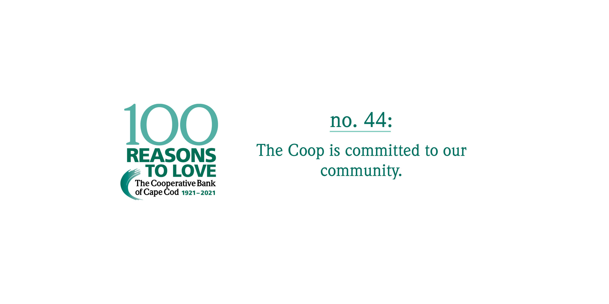 100 Reasons to Love The Coop - Reason #44: The Coop is committed to our community.