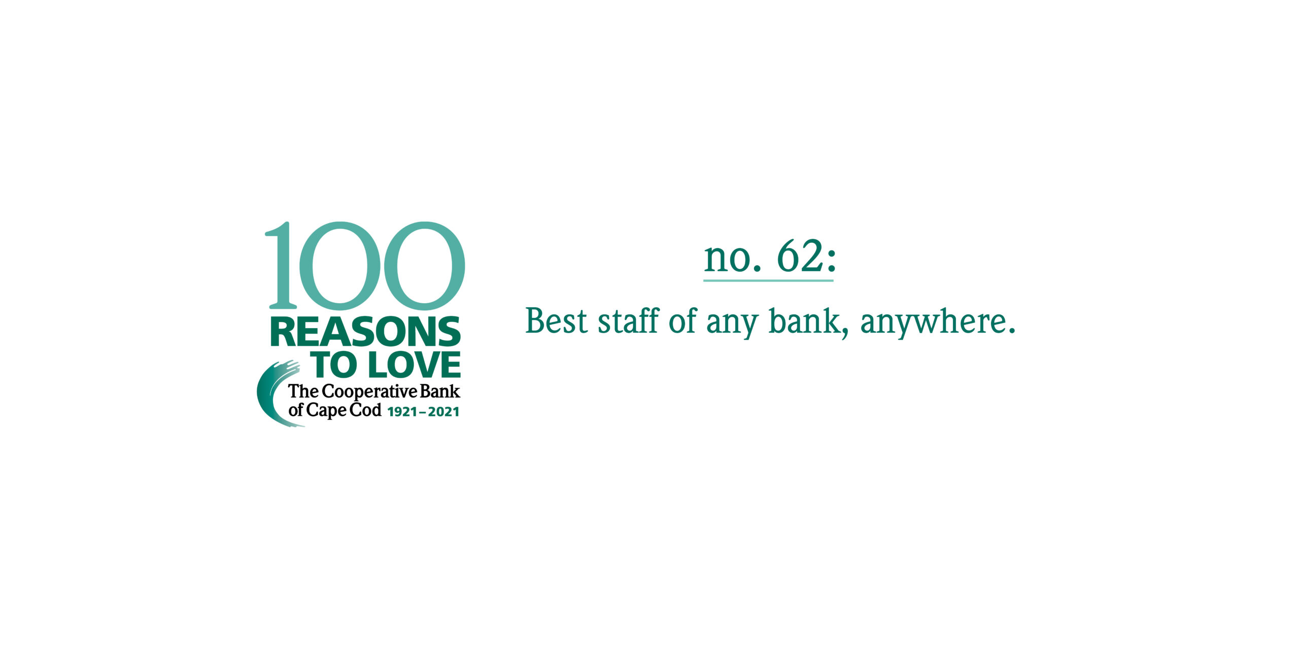 100 Reasons to Love The Coop - Reason #62: Best staff of any bank, anywhere.