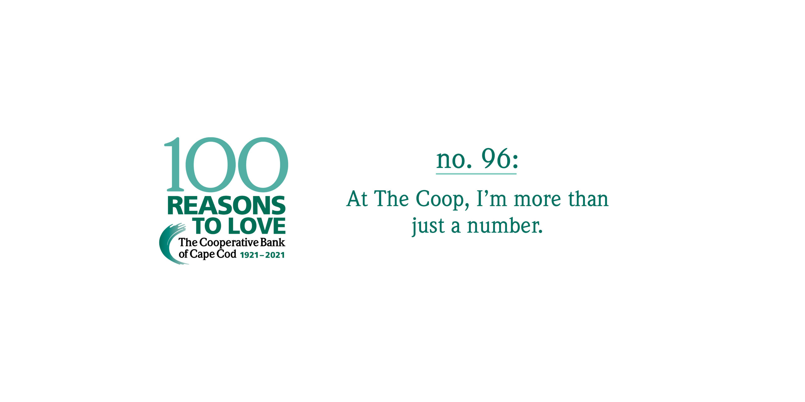 100 Reasons to Love The Coop - Reason #96: At The Coop, I'm more than just a number.